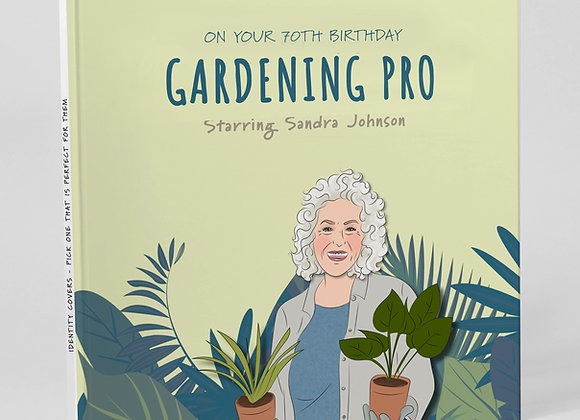 Personalised 'Gardener' (Cover only)  -  Add to any book purchase