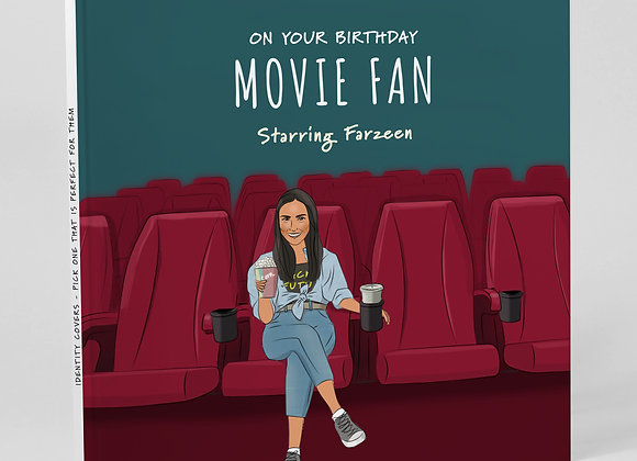 Personalised 'Movie fan' (Cover only)  -  Add to any book purchase