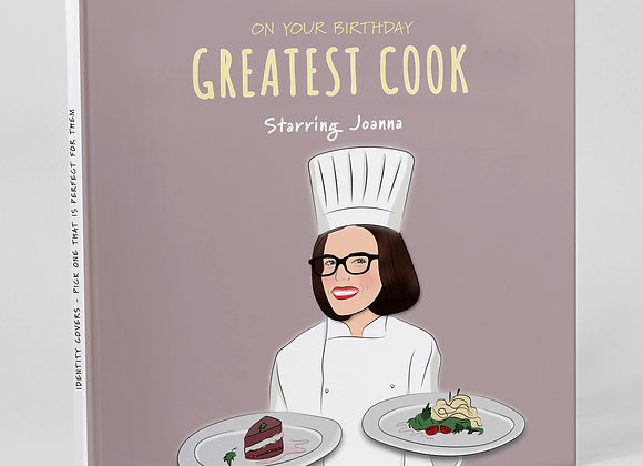 Personalised 'Cook' (Cover only)  -  Add to any book purchase