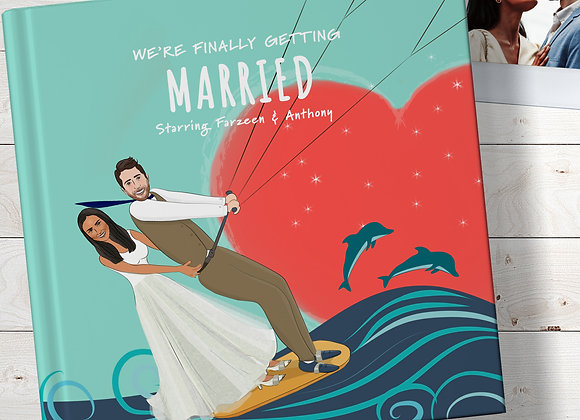 Personalised 'Finally married' Book