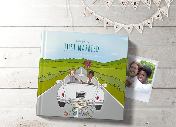 Mr & Mrs   Personalised 'Just married' Book