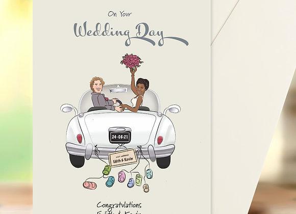 Personalised Congratulations Card | Wedding