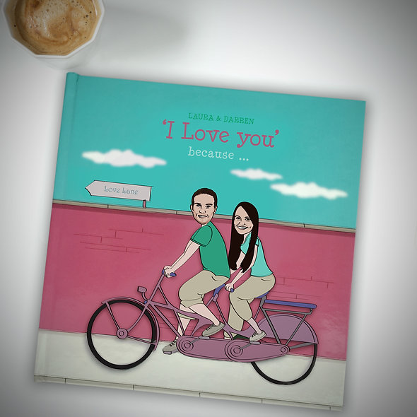 Personalised 'I love you' Book