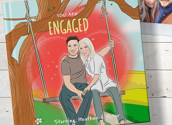 His & Hers   Personalised 'Engaged' Book