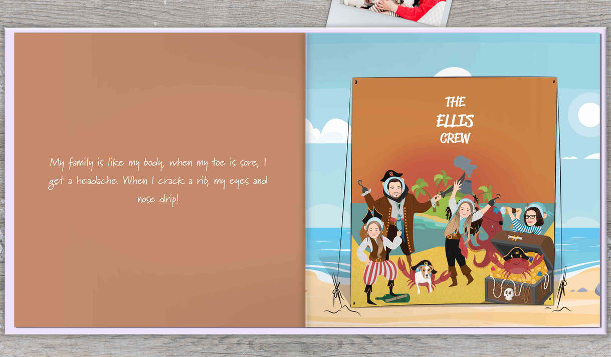 Unique personalised gift book for family
