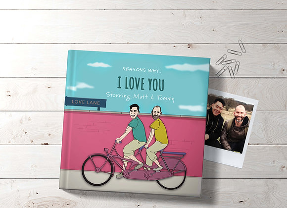 His & His | Personalised 'I love you' Book