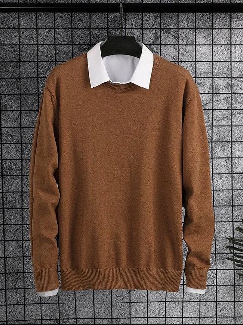 Brown Collared Shirt