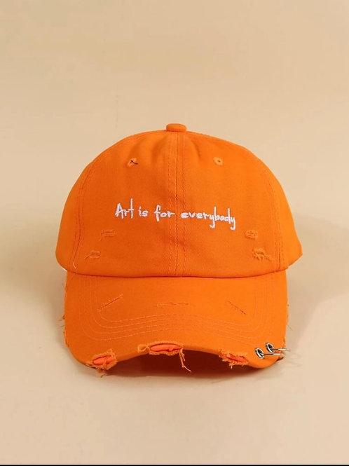 'Art is for everybody' Orange Hat