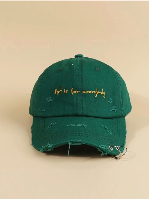 'Art is for everybody' Green Hat