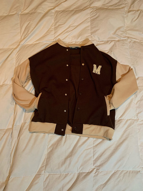 Brown Michigan State Varsity Jacket