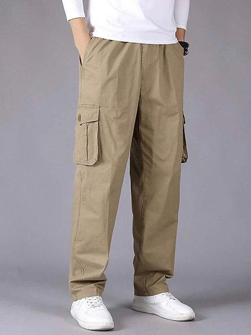 Beige Baggy Cargo Pants