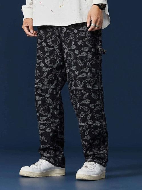 Baggy Black Bandana Pants