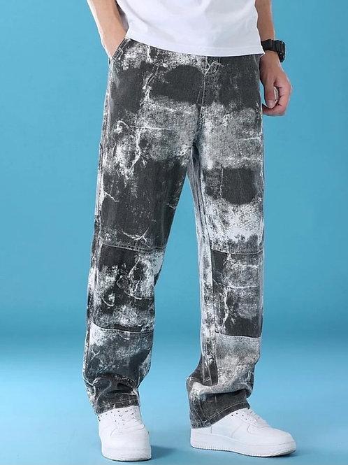 Loose-fit Tie-Die Pants