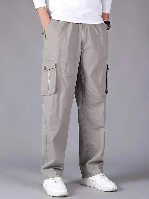 Grey Baggy Cargo Pants
