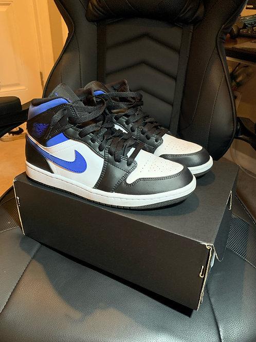 """Air Jordan 1 Mid GS """"Racer Blue / Black / White"""" (10)"""