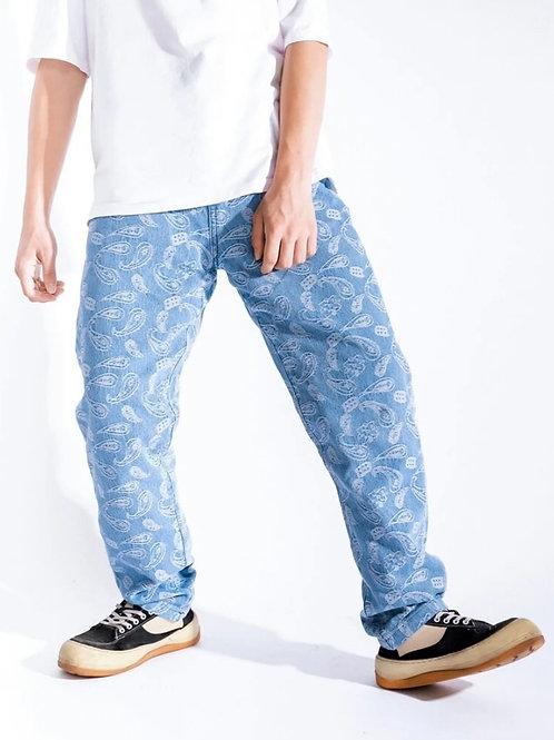 Baby Blue Bandana Pants