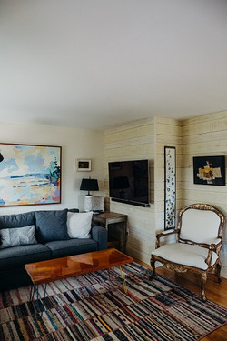 Living Room with Large TV