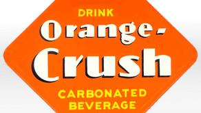 Vintage Orange Crush Soda Bottles Take a Ribbing