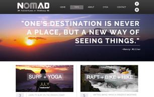 Nomad Adventures website