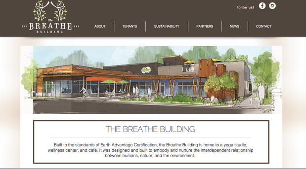 The Breathe Building website