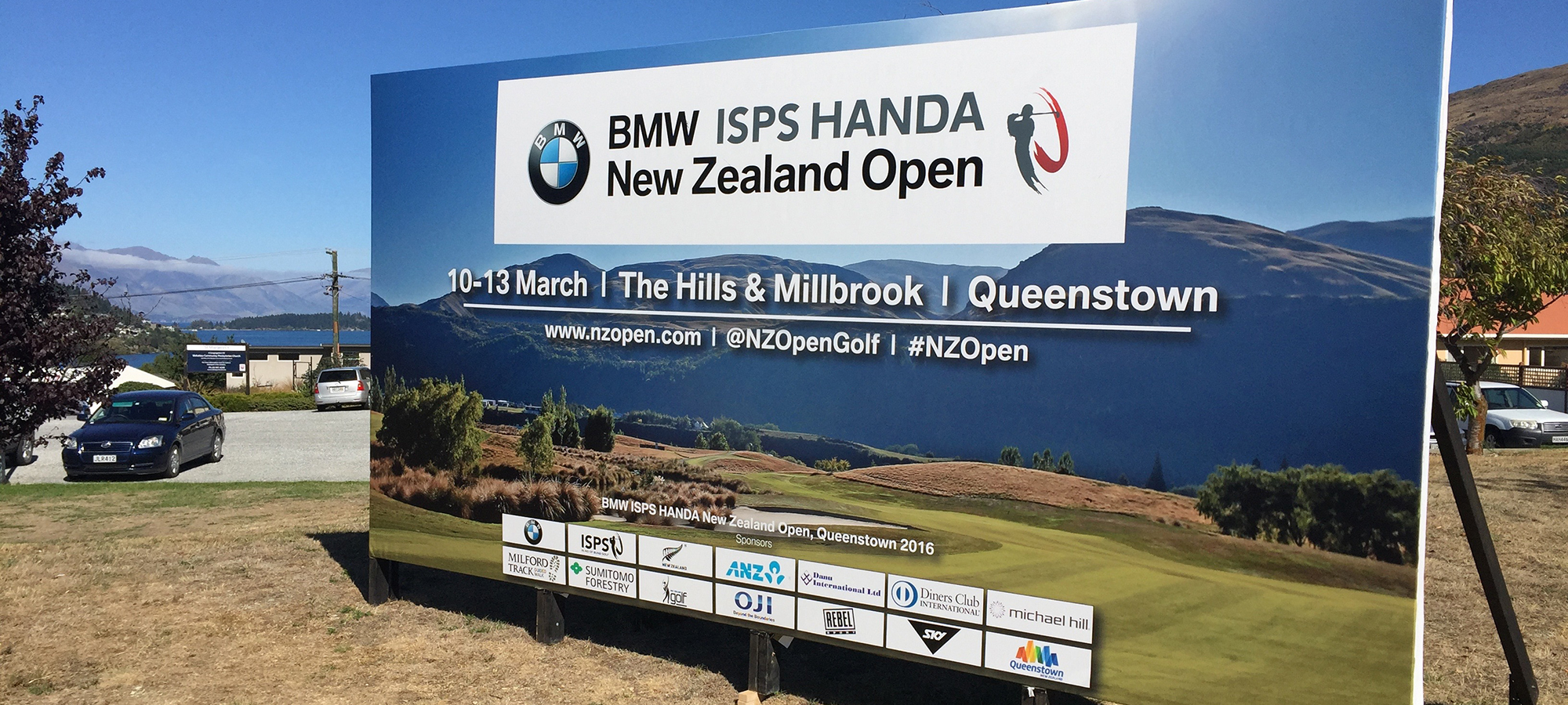 Golf Open Signage