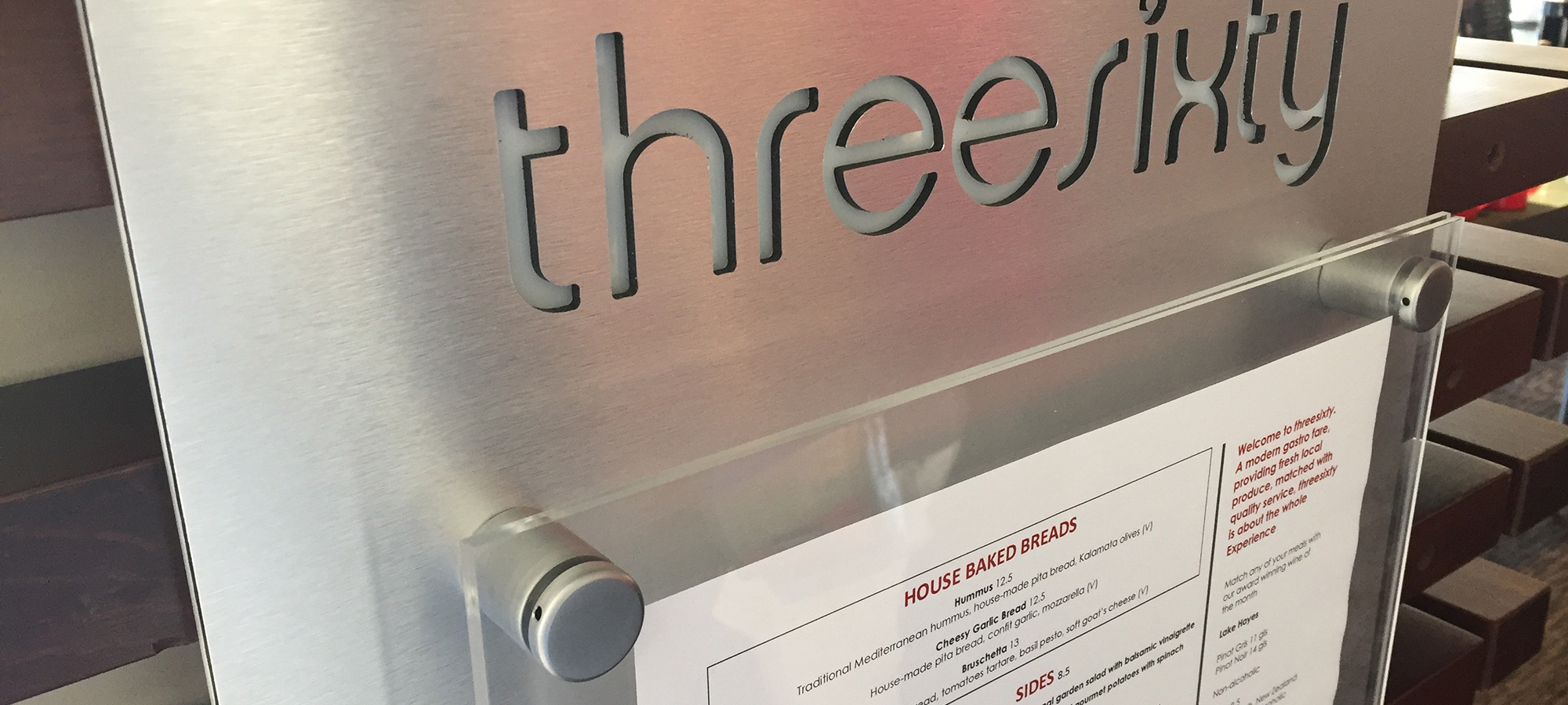 Three Sixty Menu