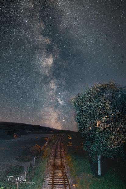 Milky Way over track