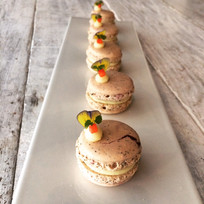 Earl Grey Macarons with a White Chocolate Ganache