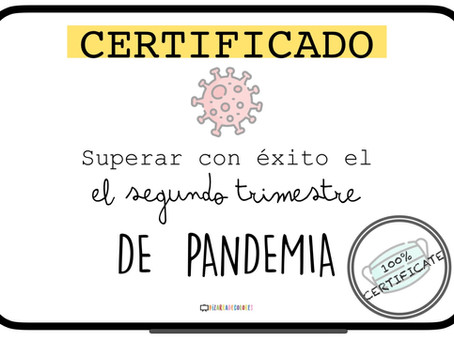 Certificado segundo trimestre de pandemia