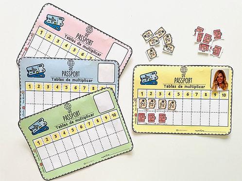 Passport de tablas de multiplicar
