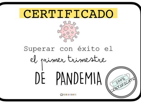 Certificado primer trimestre de pandemia