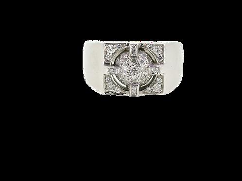 9ct Diamond ring.