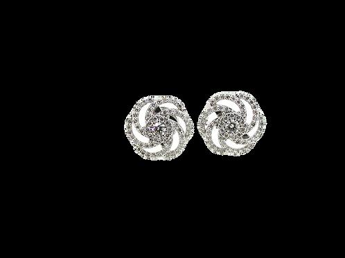 White Gold Diamond Earrings.