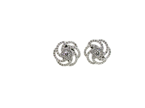 18ct White gold diamond earrings.