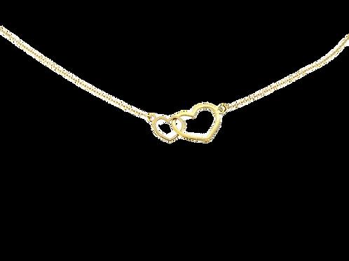 Minimalist hearts necklace