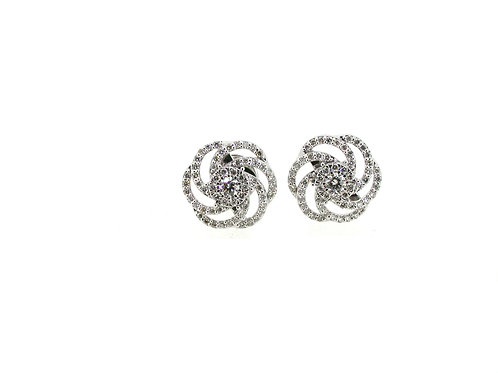 18ct White gold diamond studs.