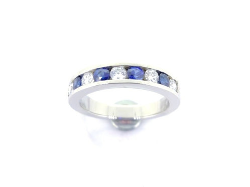 Platinum Channel Set Ring