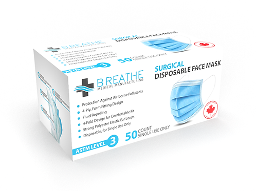 ASTM Level 3 Surgical Mask's  (50/box)