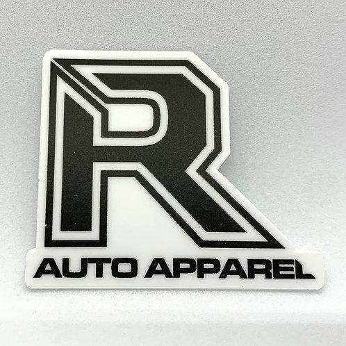 "R Auto Apparel 1.25"" helmet sticker"