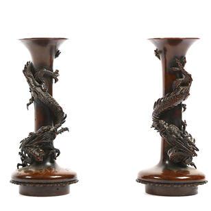 Japon, paire de vases en bronze.jpg