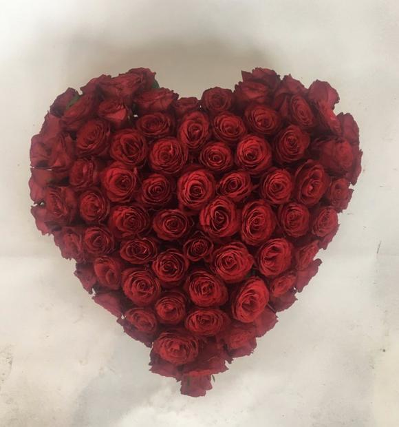 Stort rosen hjerte