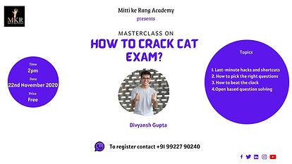 How to crack CAT exam?