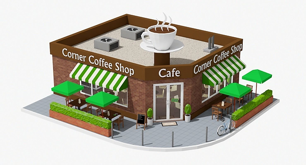 corner-coffee-shop-3d-model-low-poly-obj