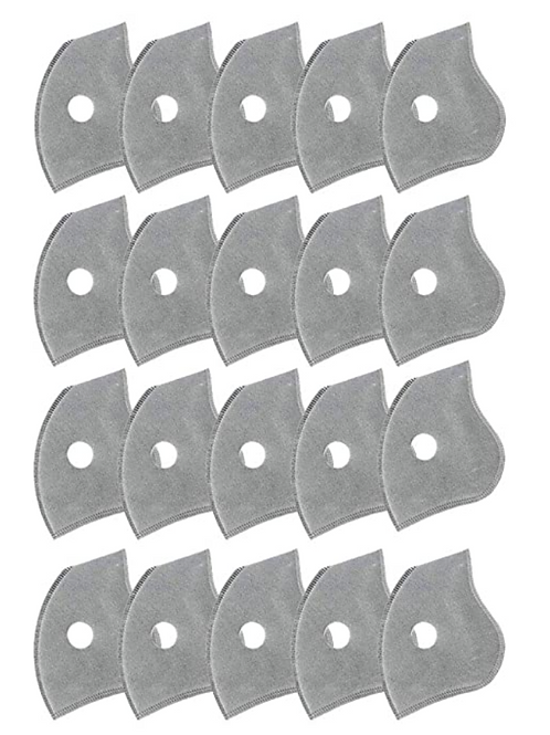 Replacement Parts, Active Carbon Filters for Mesh or Neoprene Mask,20 Pack