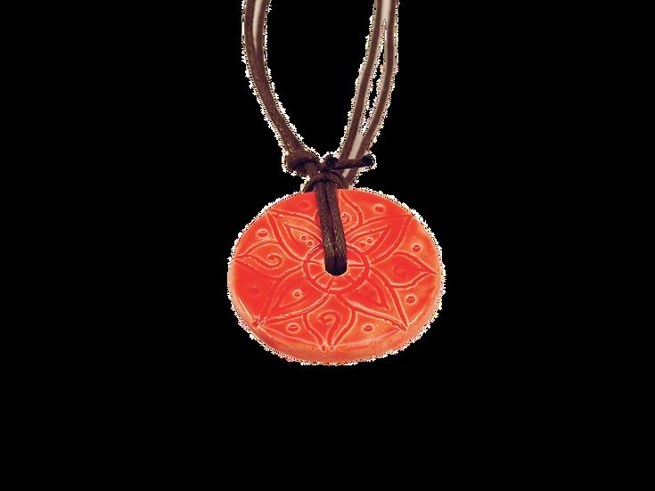Vermelho Ceramic Disk Necklace