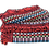 Thumbnail: Pink, Turquoise and Red Ethnic Pattern Rug
