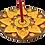Thumbnail: Honey Green Incense Burner Mandala Small Hearts