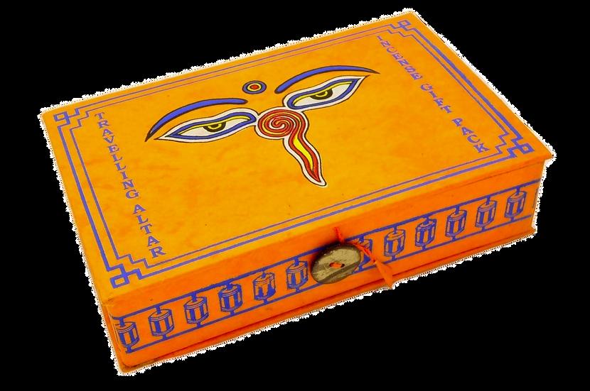 Caixa Altar de Viagem Bodhi Amarela