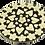 Thumbnail: Queimador de Incenso Mandala Médio Preto e Branco