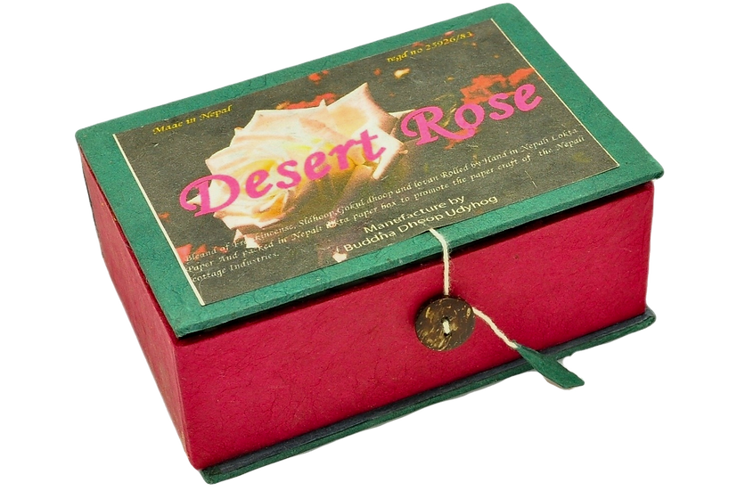 Corda de Incenso Tibetano Rosa do Deserto